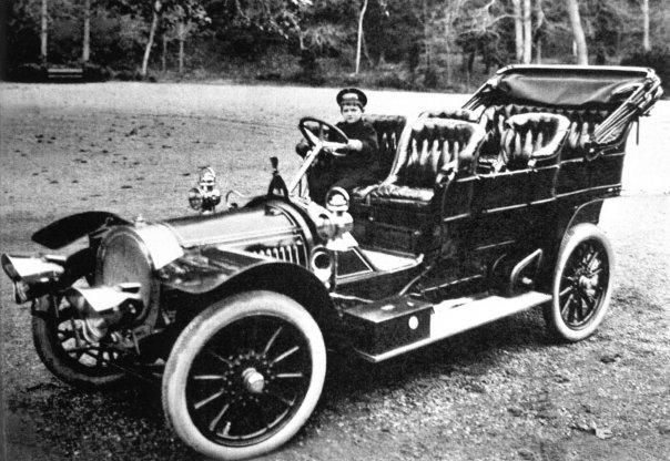 Alexei_Nikolaievich_behind_the_wheel_of_a_Delaunay-Belleville_car
