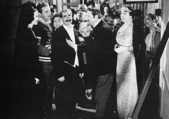 opera scene with Marx Brothers, Kitty Carlisle, Margaret Dumont