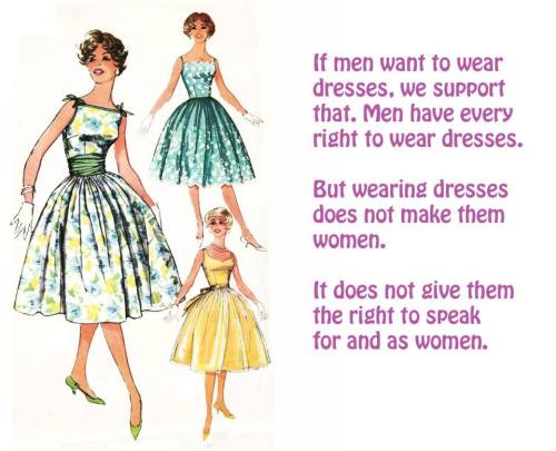 men in dresses