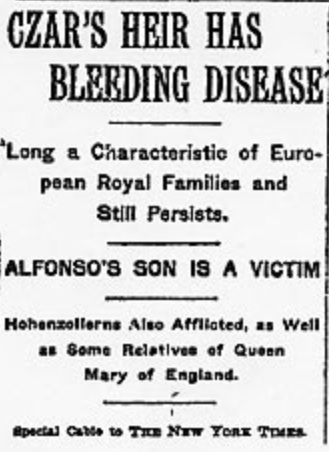Bleeding Disease Headline