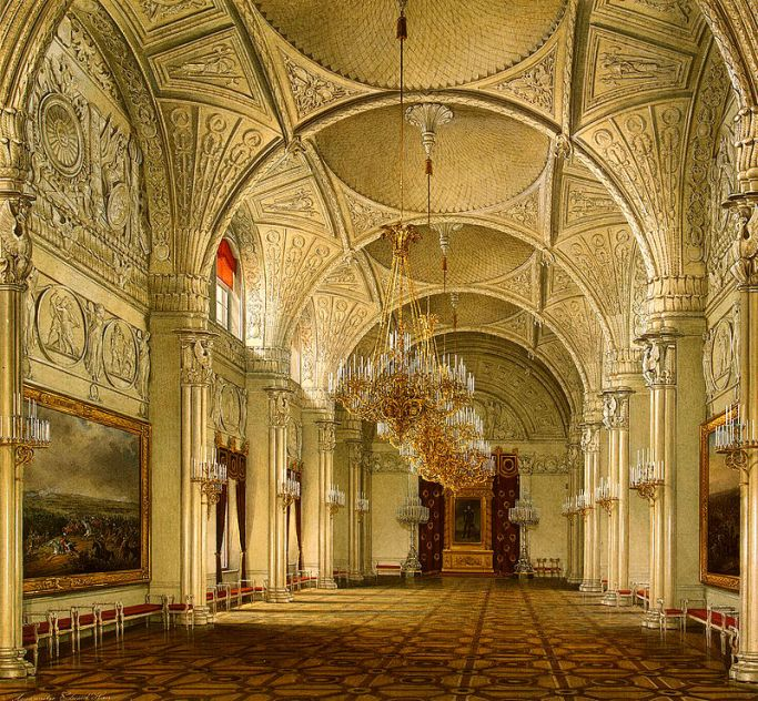 Hau._Interiors_of_the_Winter_Palace._The_Alexander_Hall._1861