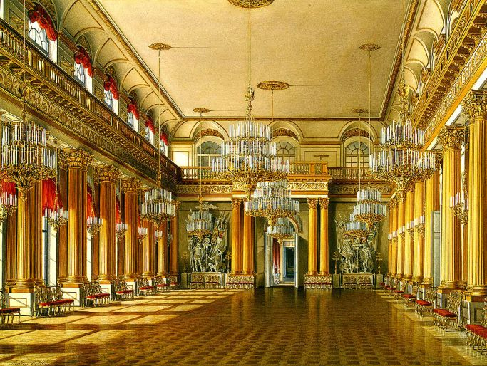 Hau._Interiors_of_the_Winter_Palace._The_Armorial_Hall._1863