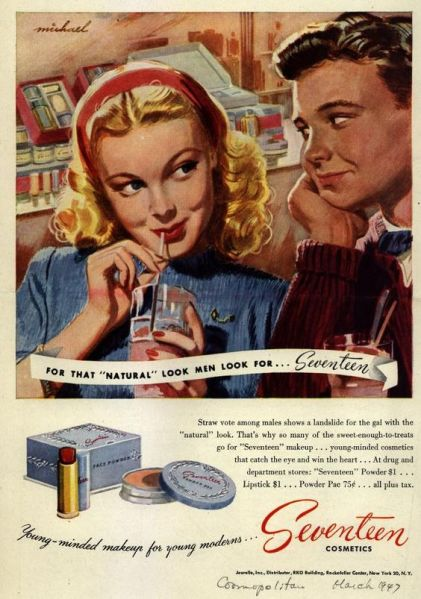 seventeen cosmetics ad
