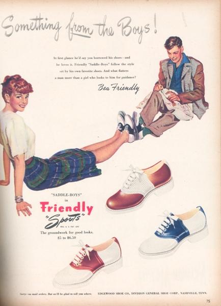 Seventeen shoe ad