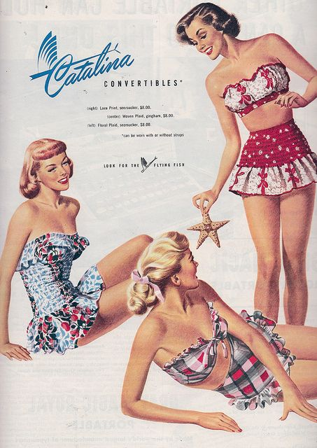 1940s swimsuits ad