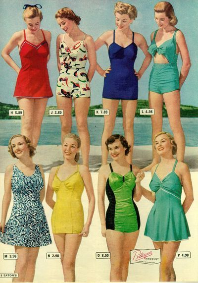 1940s swimsuits