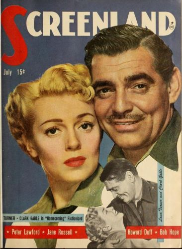 screenland clark gable july 1948