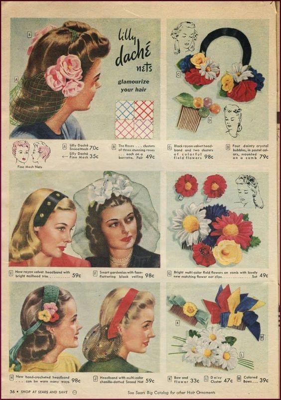 1940s head coverings