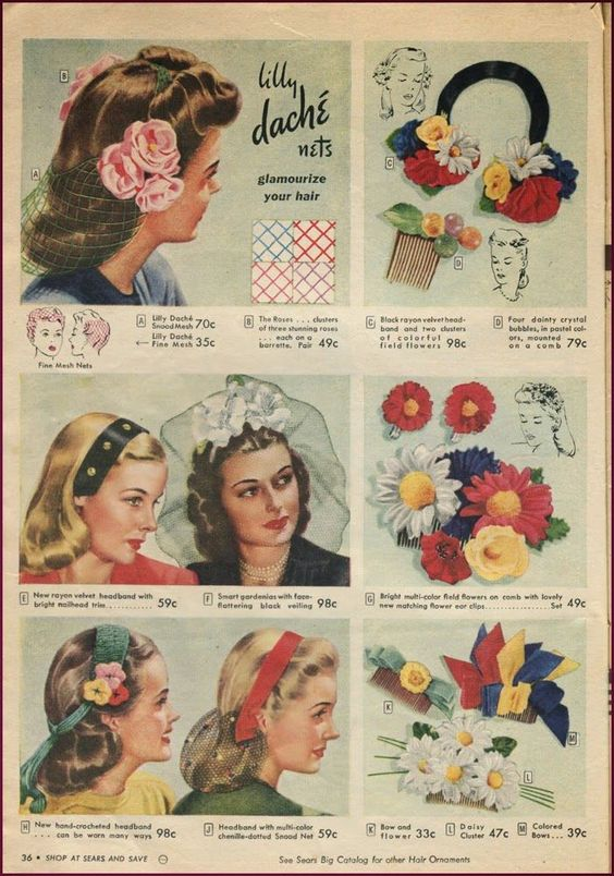 1940s head coverings