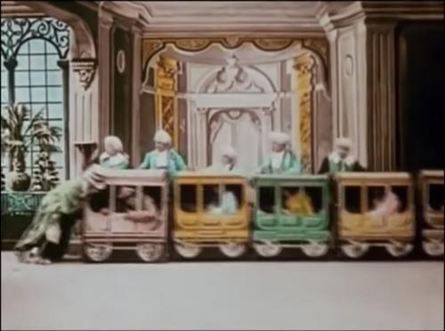 Image result for Les quatre cents farces du diable 1906 train
