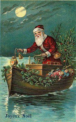 santa-boat