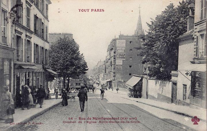 1280px-F_Fleury_CCCC_54_-_TOUT_PARIS_-_Rue_de_Ménilmontant_-_Clocher_de_l'Eglise_Notre-Dame-de-la-Croix