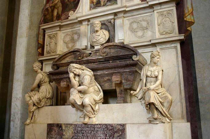 800px-9919_-_Firenze_-_Santa_Croce_-_Tomba_di_Michelangelo_-_Foto_Giovanni_Dall'Orto,_28-Oct-2007