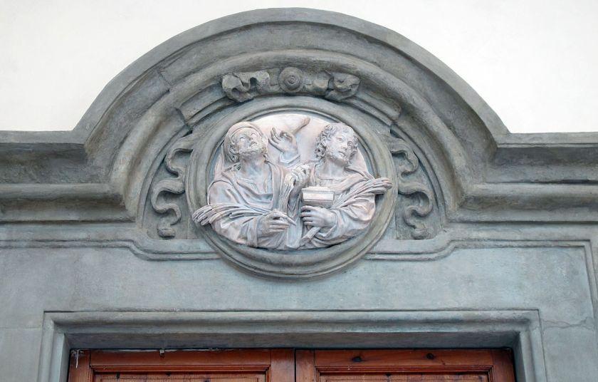 Arcispedale_di_santa_maria_nuova,_chiostro_delle_medicherie,_portale_della_cappellina_del_buontalenti_02