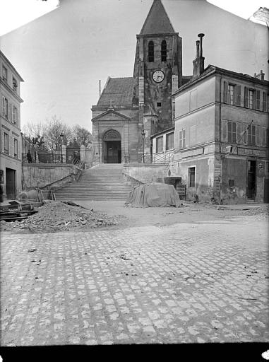 Eglise_Saint-Germain-de-Charonne,Eglise_de_Charonne_-_Façade_-_Paris_20_-_Médiathèque_de_l'architecture_et_du_patrimoine_-_APMH00037622